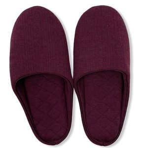 Charter Club Wine Quilted Slide Slipper M 7-8 new